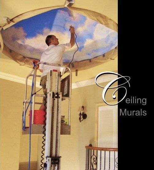 17 best images about ceiling faux finishing on pinterest for Cloud mural ceiling