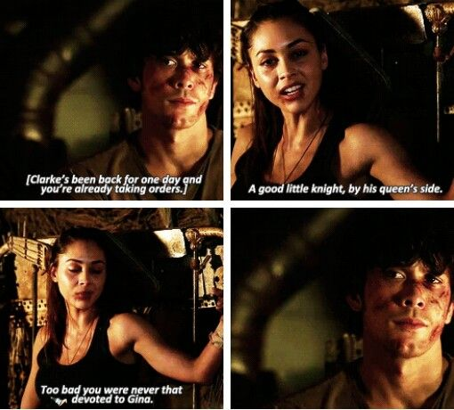 Gosh this scene though.... BUT BELLARKE. Guys, this is not a drill. The truth is out. He's in love with Clarke. No hiding it now. He cared more for Clarke than he ever did for Gina (WHO HAD BEEN HIS GIRLFRIEND).... Yup, he can't deny his love now. It's out. #Bellarke #BellamyBlake #the100