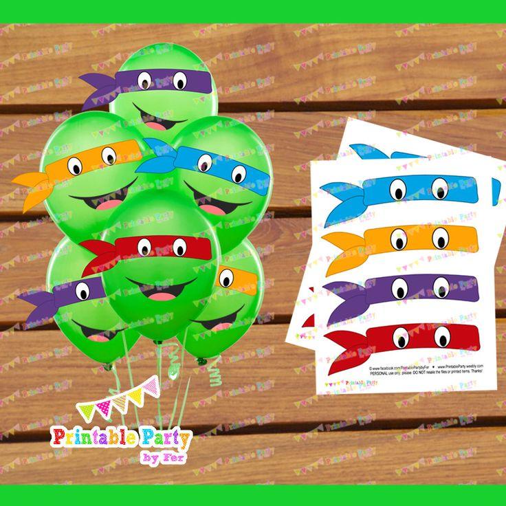 DIGITAL PRINTABLE ninja turtles birthday by PrintablePartybyFer, $11.99