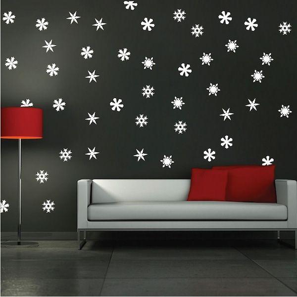 Snowfall Wall Art Decals