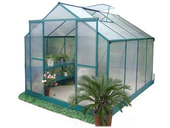 gardening supplies Greenhouse 10 x 8ft Green: Growing your own produce is one of life's simple pleasures. It saves money, reduces stress and promotes a healthier diet for you and your family. With this popular model, you'll be showing off your tomatoes while your neighbours toss up whether their outdoor efforts are even edible. Don't forget a greenhouse is also a lovely tranquil space for cultivating flowers and ornamental plants.