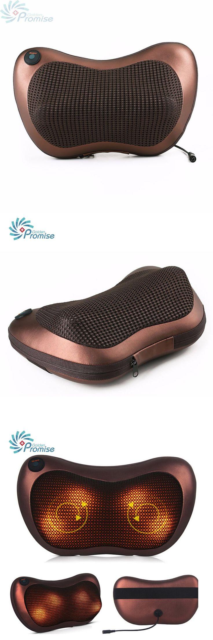 2016  Kneading Neck Massager Pillow Infrared Shiatsu Electric Shoulder Back Massager Car Cervical Vertebra Therapy