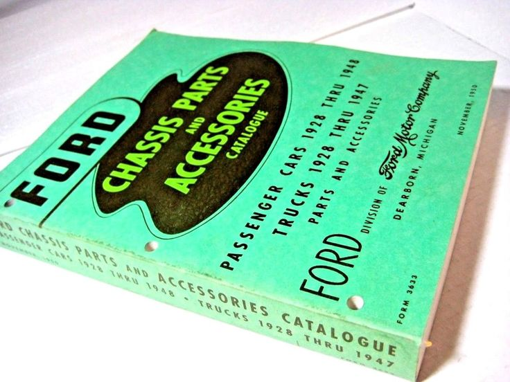 """1928-1948 FORD CAR TRUCK CHASSIS PARTS CATALOG / ORIGINAL """"GREEN BIBLE"""""""