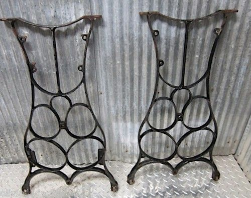 Vtg Cast Iron Table Legs Machine Age Industrial Steampunk Wall Art Antique  Old