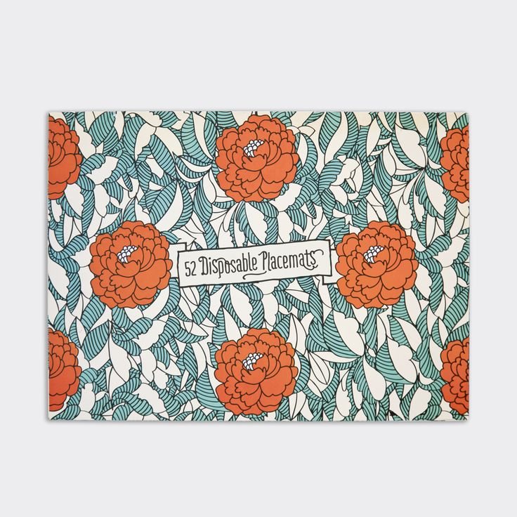 A3 pad of 52 disposable paper placemats.  Designs: 13 x Floral (Orange), 13 x Leaves (Yellow), 13 x Delicious Monster (Green), 13 x Hot Air Balloons (Green). Continue reading →
