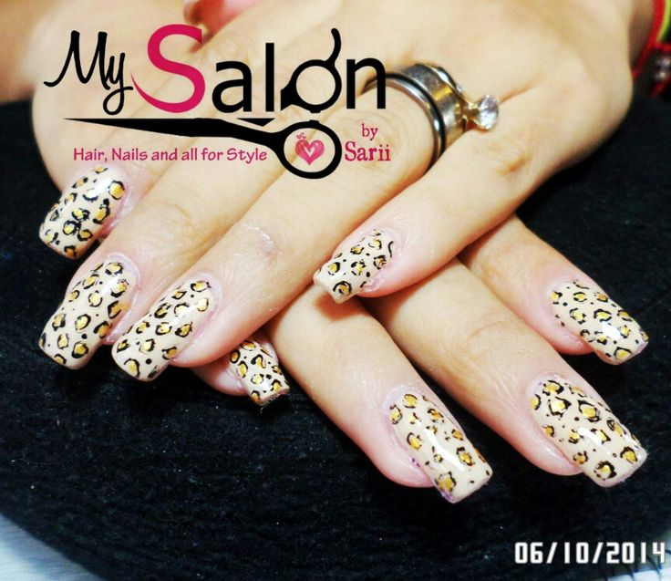 150 Uñas acrílicas sobre uña natural. Punta cuadrada. Animal Print leopardo. Organic