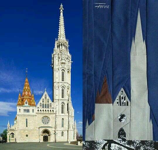 Mathias church Hungary- self-made paperpiecing patchwork pattern