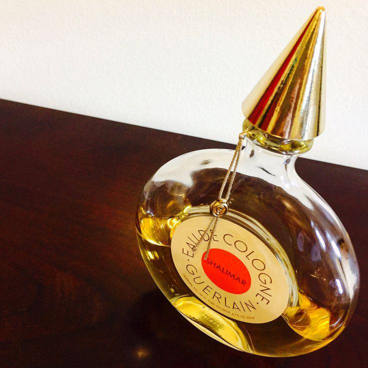 """NEW ETSY LISTING!! A vintage """"Flacon Montre"""" bottle of Guerlain Shalimar eau de cologne."""