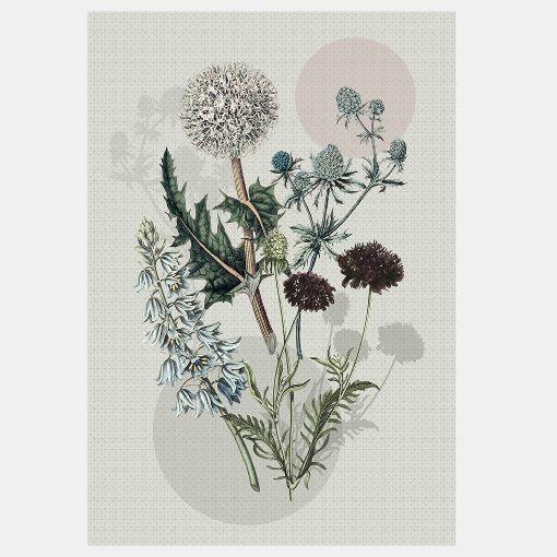 Digitalprint Botanik 100x145cm