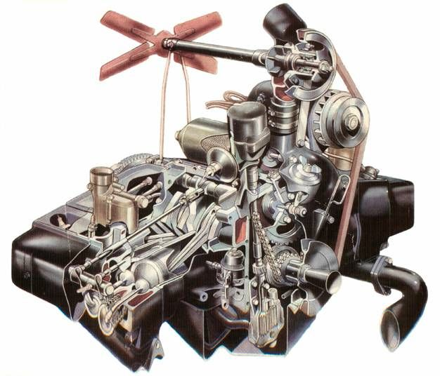 Jowett Javelin Engine