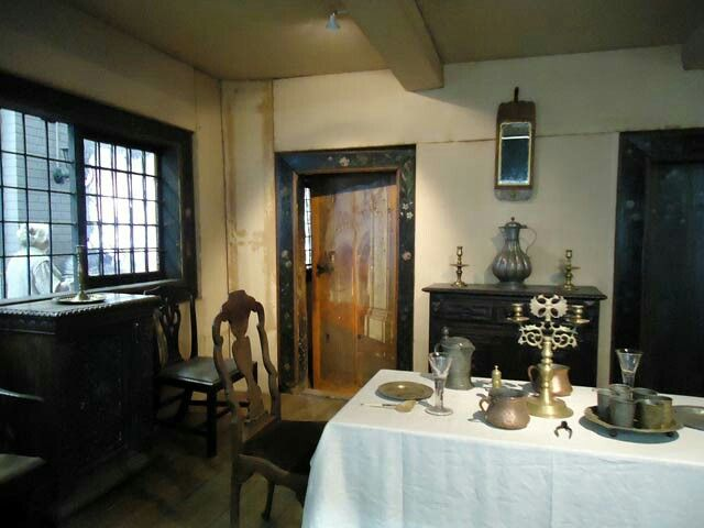 """The Dining Room inside the Cabin of Peter the Great in St Petersburg,Russia. """"AL"""""""