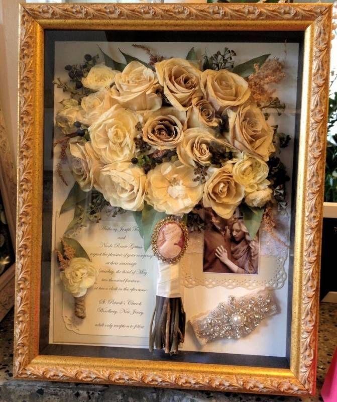 Wedding Flowers Shadowbox DIY