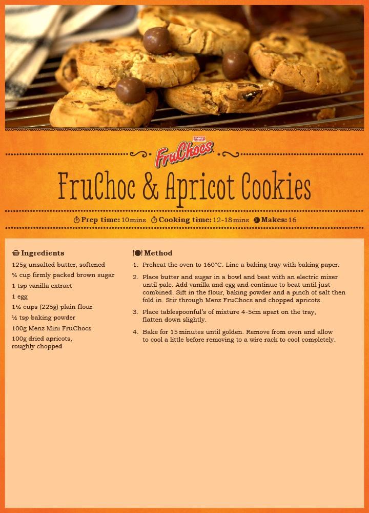 FruChoc & Apricot Cookies