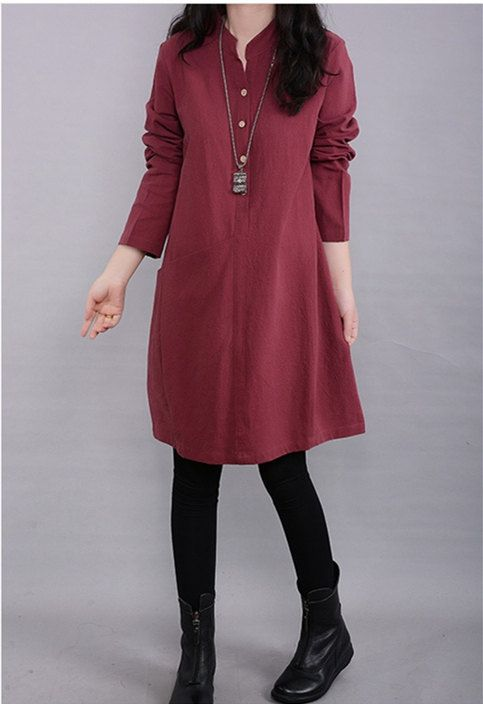 Hey, I found this really awesome Etsy listing at https://www.etsy.com/listing/201684205/plus-size-dress-autumn-dress-loose-dress