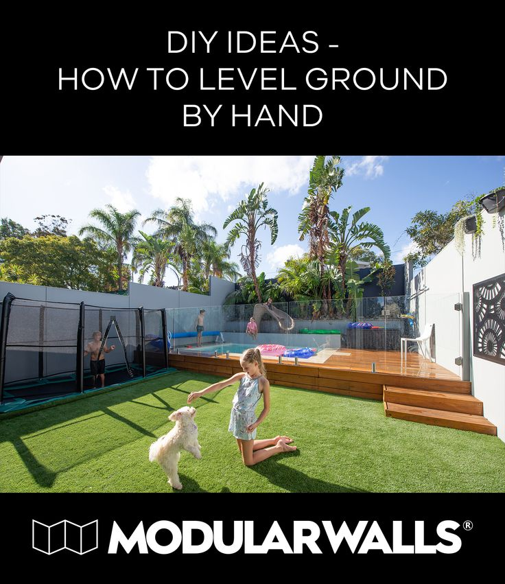 Diy ideas how to level ground by hand how to level