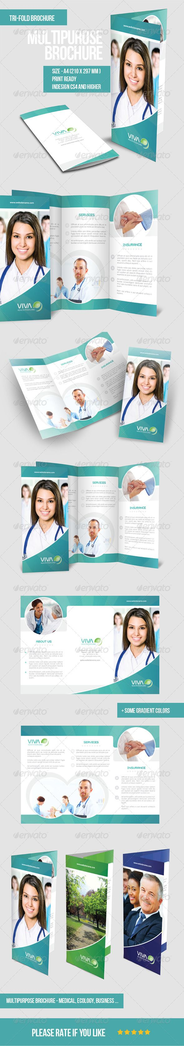 Multipurpose Tri-fold Brochure  #