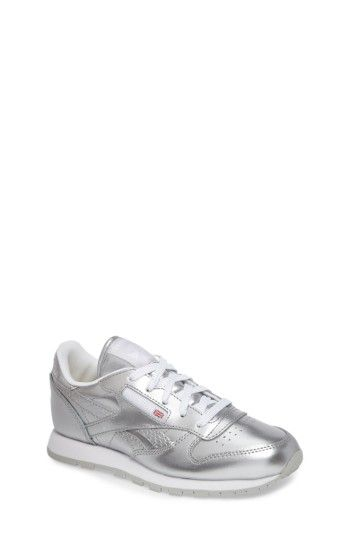 Free shipping and returns on Reebok Classic Metallic Sneaker (Baby, Walker, Toddler, Little Kid & Big Kid) at Nordstrom.com. Smooth leather with a metallic finish updates Reebok's classic athletic sneaker featuring a well-cushioned collar and footbed.