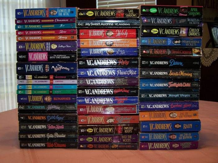 V.C. Andrews.  Great author with fun reads!