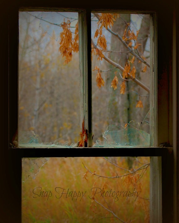 Broken  8x10 Photo  Antique Window  Window Pane  by Snaphappy72, $15.00