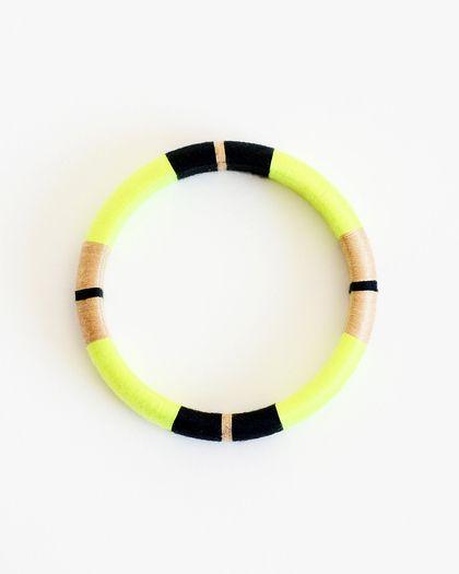 Be Daring Thread Wrapped Bangle Bracelet #jewelrydesign