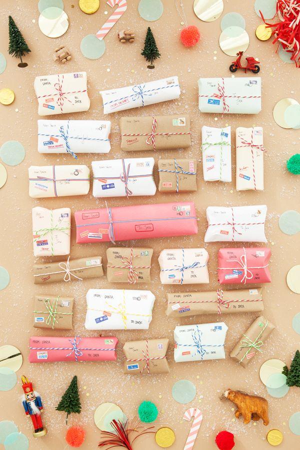 Mini airmail letters advent calendar.