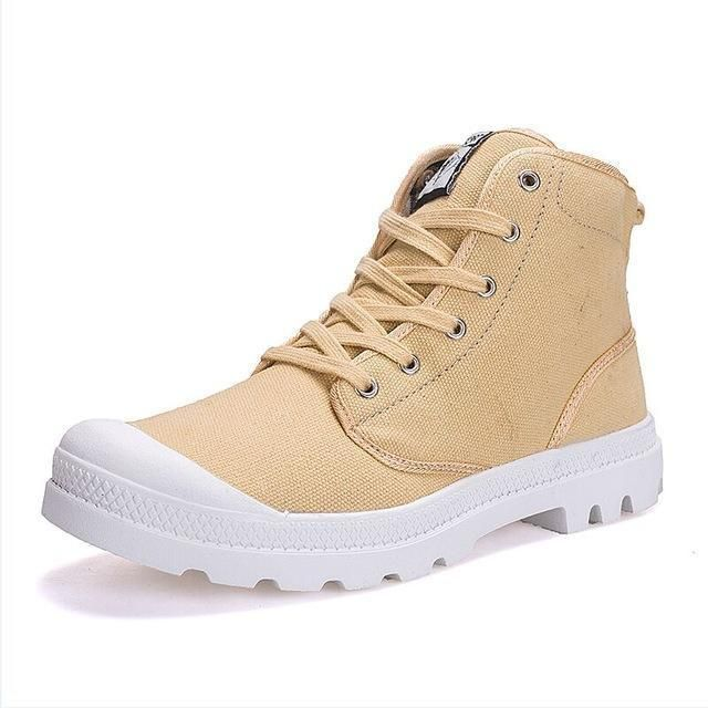 Men Casual Shoes Ankle Military Canvas Shoes Tactical Combat Lace-Up S