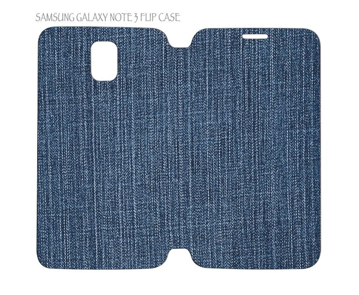 Samsung Galaxy Note 3 Flip Case Folio Cover Jeans Denim Fabric Pattern #QuinnCafe