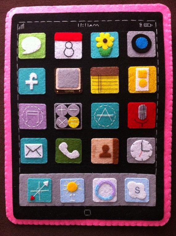 felt iPad case