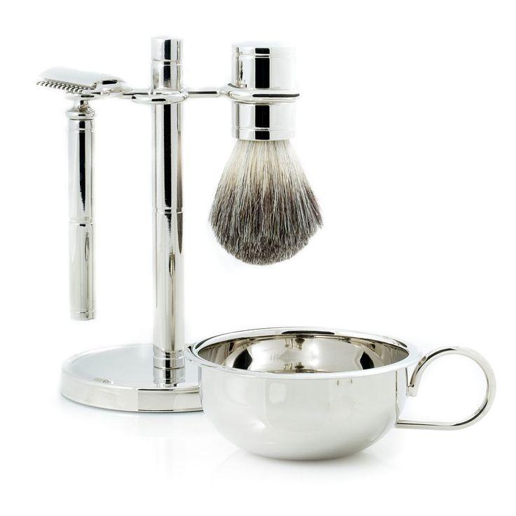 Bey Berk Safety Razor Shaving Set, Silver