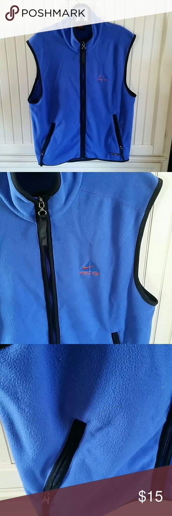 Nike ACG vest THERMA-FIT fleece vest it is unlined size (8-10 med) Nike Other