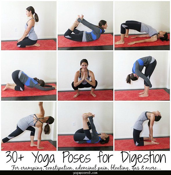 yogaposes8 Yoga poses for gas pain