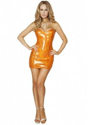 Dit Oranje paillette jurkje is een strapless jurkje in neon oranje met glimmende oranje paillette. Aan de bovenzijde is de oranje paillette jurk afgewerkt met een glimmende oranje stof. Het oranje paillette jurkje is perfect voor een oranje feest zoals koningsdag om op stijlvolle wijze op te vallen in de oranje gekte. Dit sexy oranje jurkje is de koningsdag knaller van Roma Costumes! #oranje #jurkje #koningsdag