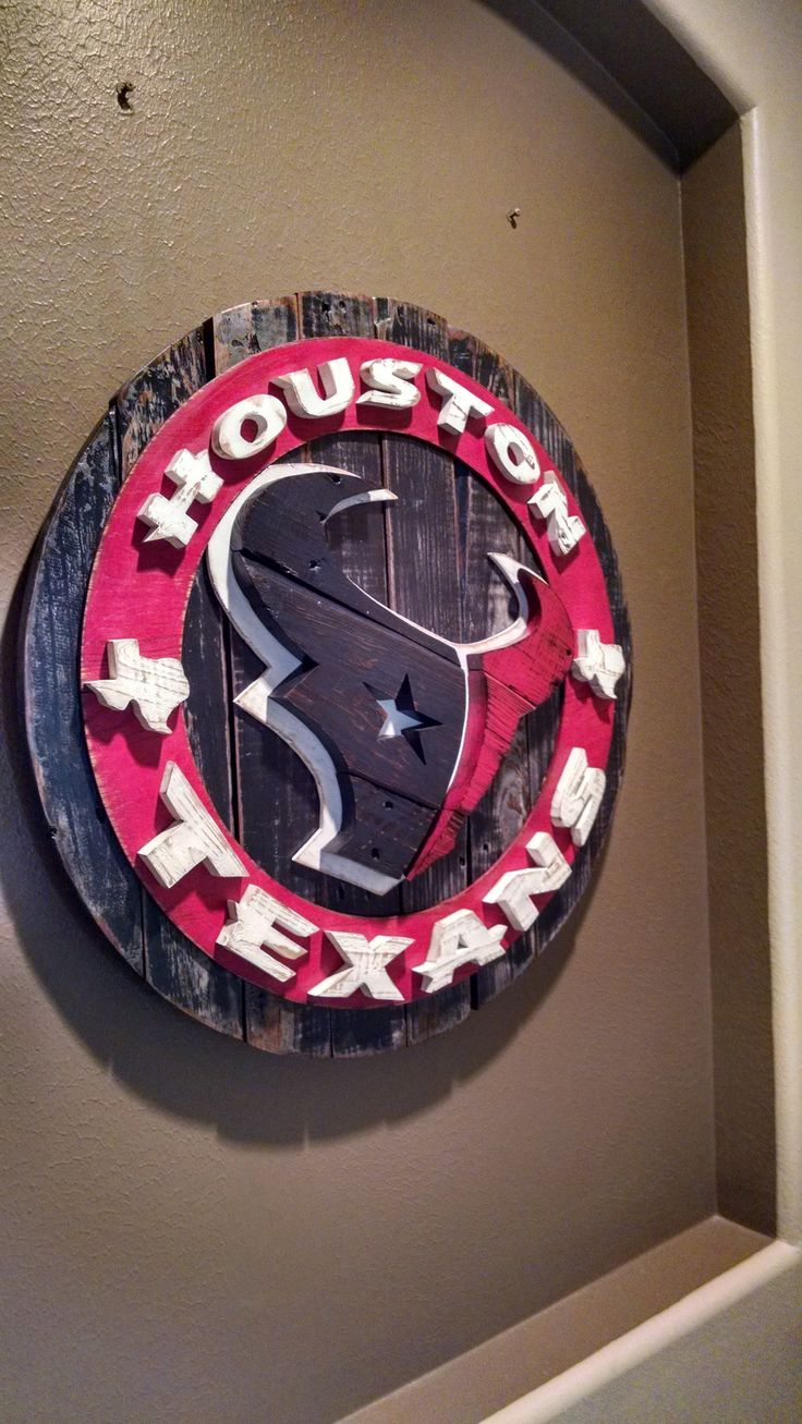 Pics photos houston texans logo chris creamer s sports - Houston Texans Reclaimed Wood Wall Art