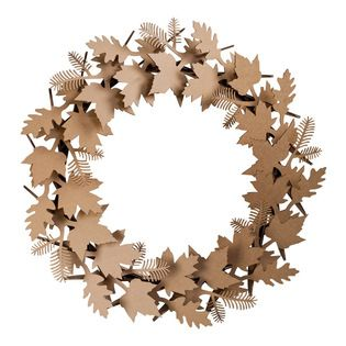 Cardboard Safari - Leaf Wreath, Brown - Our recycled Wreaths are perfect for decorating your home or business. Our white cardboard is especially easy to paint or decorate using markers, glitter and other craft materials.