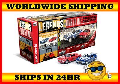 Auto World 13' Legends Of The Quarter Mile Drag Slot Car Track Set