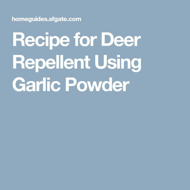 Recipe for Deer Repellent Using Garlic Powder