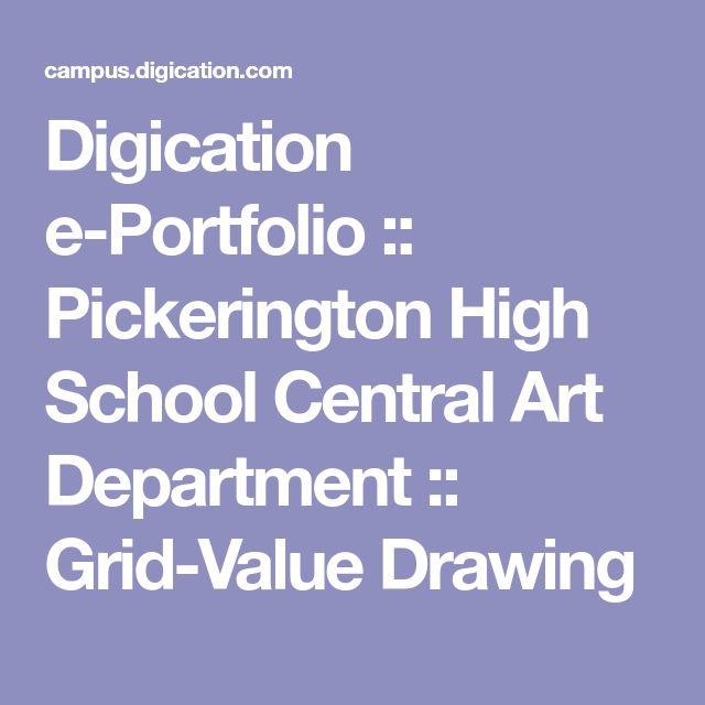 Digication e-Portfolio :: Pickerington High School Central Art Department :: Grid-Value Drawing