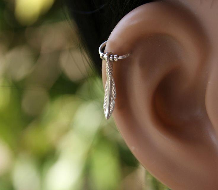 Cartilage Earring, Tragus Hoop,Tragus Piercing