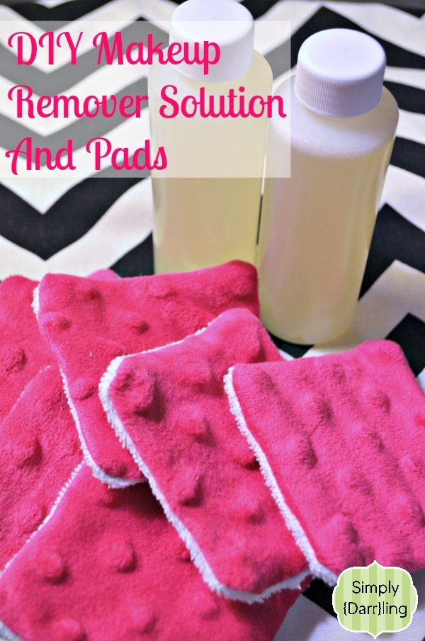 DIY Makeup Remover Solution and Pads. A DIY Christmas present just add polish too!  Here are the ingredients:  1 cup water 1 1/2 Tablespoon baby shampoo 1/8 teaspoon baby oil 15 drops tea tree oil Once the solution has been made, simply pour into some bottles and label! Labeling could be as simple as a hang tag or a sticker.