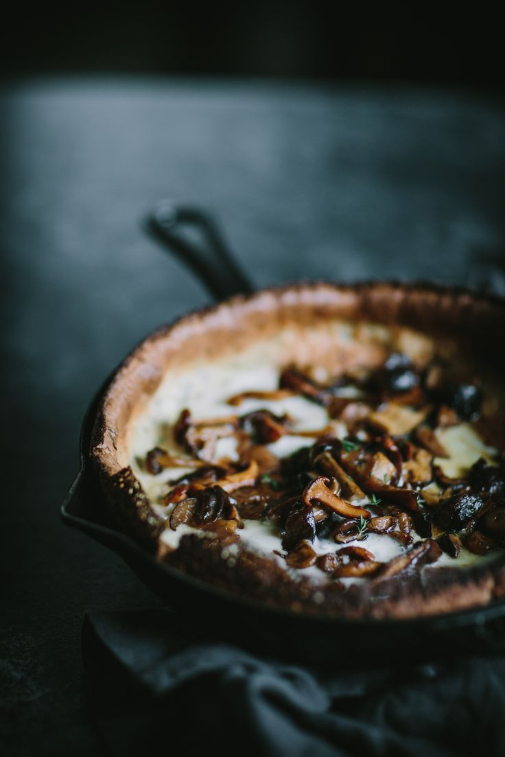 Online Photography Workshop + Savory Mushroom Dutch Baby by Eva Kosmas Flores | Adventures in Cooking