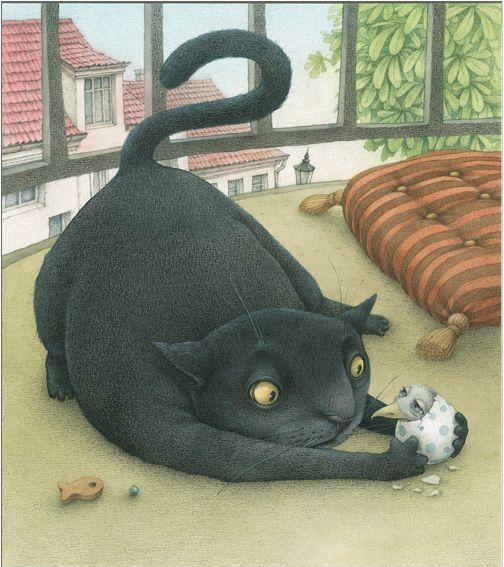 Animalarium: Illustrarium, part 2: Cats, Cat Art, Books Illustrations, Cat Illustrations, Catart, Lina Dūdaitė, Lina Dudaite, Children Books, Black Cat