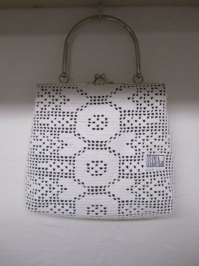 Handbag made from recycled materials.