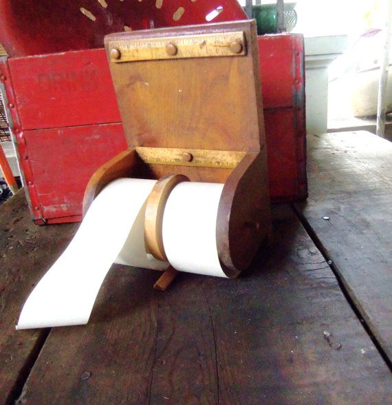 Vintage Country Store Wooden Paper Note Dispenser w/ by Avaricia