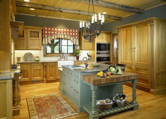 Kücheneinrichtung Ideen Trends Interior Design Country Style Englische Küche  Holz