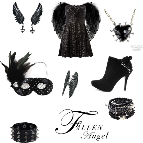"""My Fallen Angel Halloween Costume"" by themonsterwithinme ❤ liked on Polyvore"