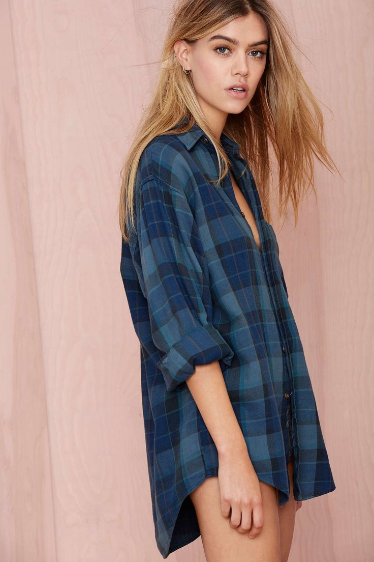 After Party Vintage Tried And True Flannel - Navy   Shop Shop All at Nasty Gal