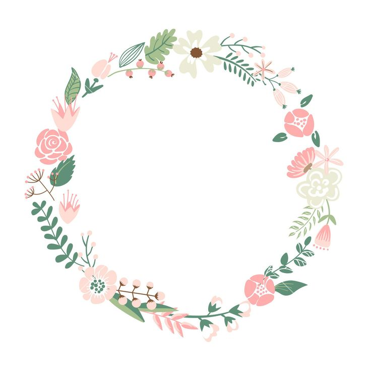 Download Floral Frame. Cute Retro Flowers Arranged Un A Shape Of The Wreath Perfect For Wedding Invitations And Birthday Cards Stock Image and other stock images, photos, icons, vectors, backgrounds, textures and more.
