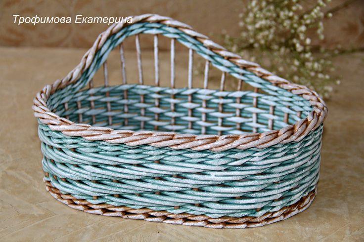 плетение из газет, ручная работа, хранение
