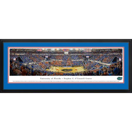 Florida Gators Basketball at the O'Dome - Blakeway Panoramas Ncaa College Print with Deluxe Frame and Double Mat