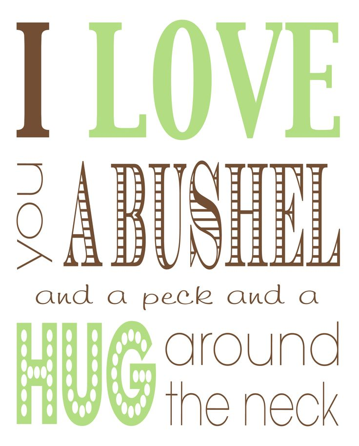 FREE Bushel And A Peck Printable 8x10
